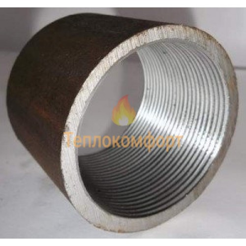 Фітинги - Муфта сталева з трубною різьбою Промдеталь Ду 40 - Фото 1