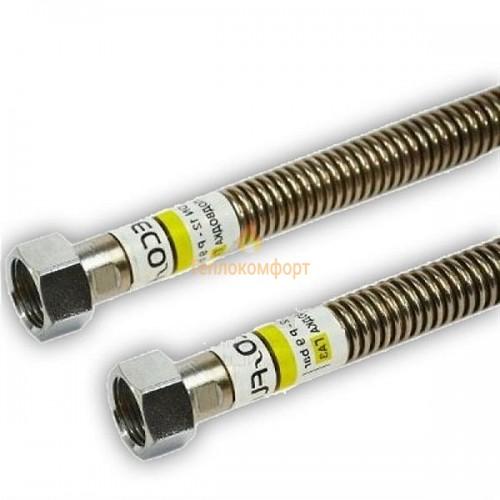 """Шланги для газа - Шланг газовый Eco-Flex Газ Стандарт d12 1/2""""×3/4"""" 80 см ВВ, ВЗ - Фото 1"""
