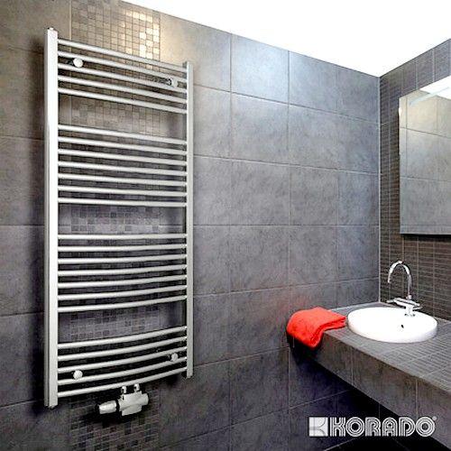 Полотенцесушители - Водяной полотенцесушитель Korado Koralux Chrom Rondo Exclusive-M 900×450 - Фото 1