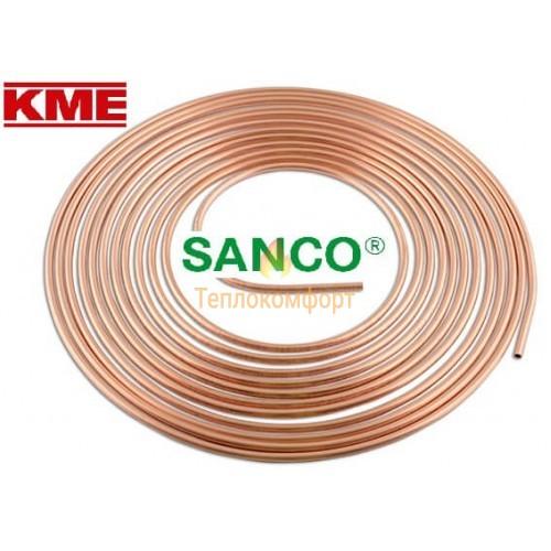 Трубы - Труба медная мягкая KME Sanco 22 × 1 мм - Фото 1