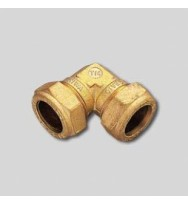 Уголок компрессионный двойной для медных труб Tiemme 10×10