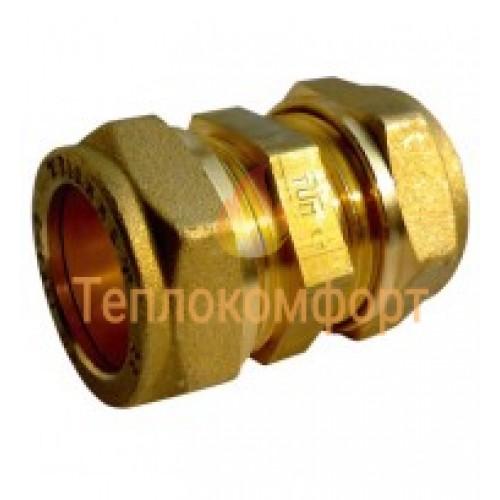 Фитинги - Муфта компрессионная прямая двойная Tiemme 12×12 - Фото 1