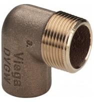 """Куточок бронзовий під пайку з зовнішньою різьбою Viega 15×1/2"""""""