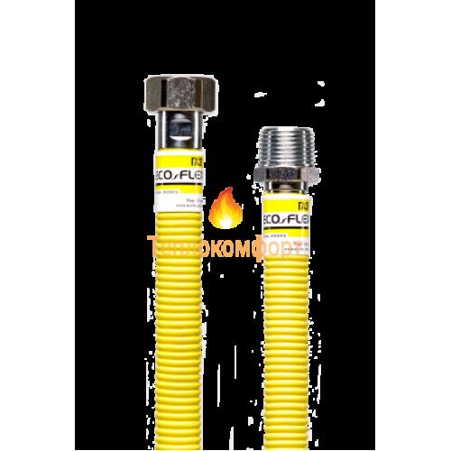 """Шланги для газу - Шланг газовий Eco-Flex Газ Супер d12 1/2""""×1/2"""" 50 см ВВ, ВВ - Фото 1"""