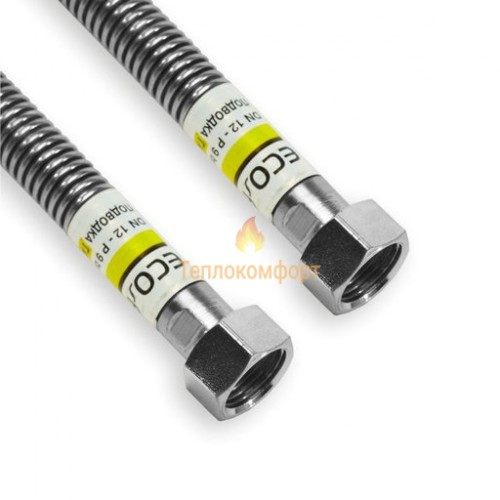 """Шланги для газу - Шланг газовий Eco-Flex Газ Стандарт d12 1/2""""×1/2"""" 200 см ВВ, ВВ - Фото 1"""
