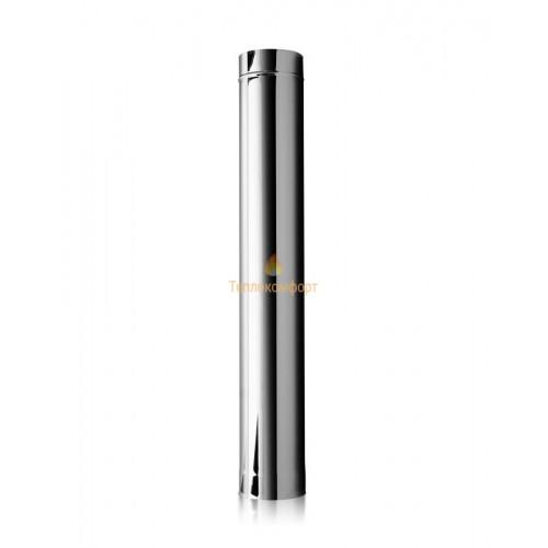 Опалення - Труба димохідна Eco Mono AISI 201 1 м, 0,5 мм, ᴓ 110 мм Тепло-Люкс - Фото 1