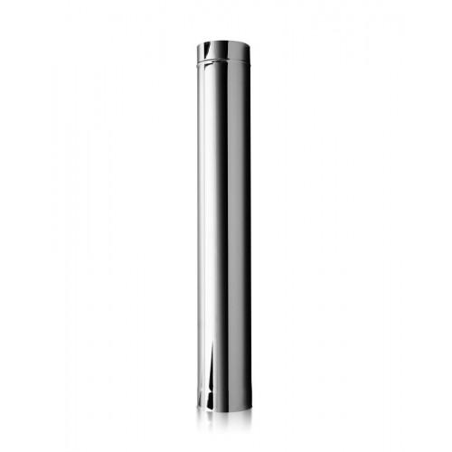 Опалення - Труба димохідна Eco Mono AISI 201 0,5 м, 0,5 мм, ᴓ 100 мм Тепло-Люкс - Фото 1