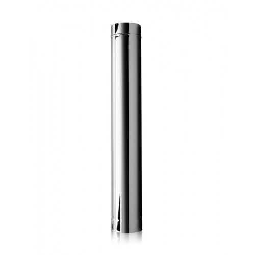 Опалення - Труба димохідна Eco Mono AISI 201 0,5 м, 0,5 мм, ᴓ 130 мм Тепло-Люкс - Фото 1