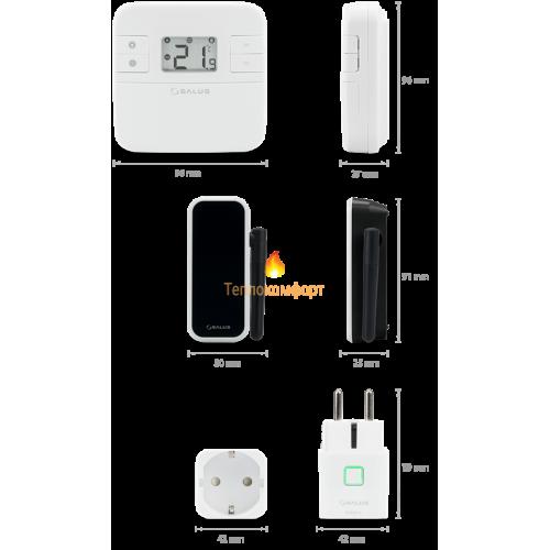 Программаторы и контроллеры - Суточные интернет-термостаты Salus RT310i (Wi-Fi) - Фото 4
