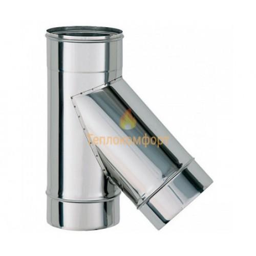 Опалення - Трійник димохідний Eco Mono AISI 201 45°, 0,8 мм, ᴓ 110 Тепло-Люкс - Фото 1