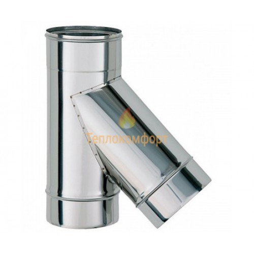 Опалення - Трійник димохідний Eco Mono AISI 201 45°, 1 мм, ᴓ 130 Тепло-Люкс - Фото 1