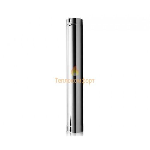 Опалення - Труба димохідна Premium Mono AISI 321 0,3 м, 0,8 мм ᴓ 110 Тепло-Люкс - Фото 1
