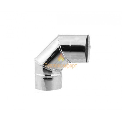 Опалення - Коліна димохідні Standart Mono AISI 304 Тепло-Люкс - Фото 1