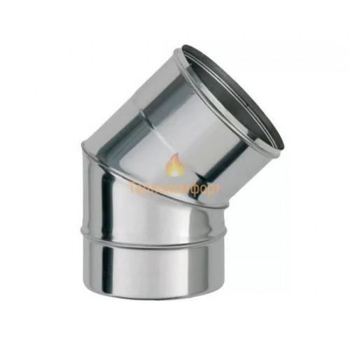 Опалення - Коліно димохідне Standart Mono AISI 304 45°, 0,5 мм, ᴓ 100 Тепло-Люкс - Фото 1