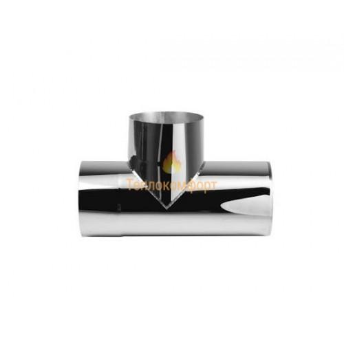 Опалення - Трійники димохідні Premium Mono AISI 321 Тепло-Люкс - Фото 1