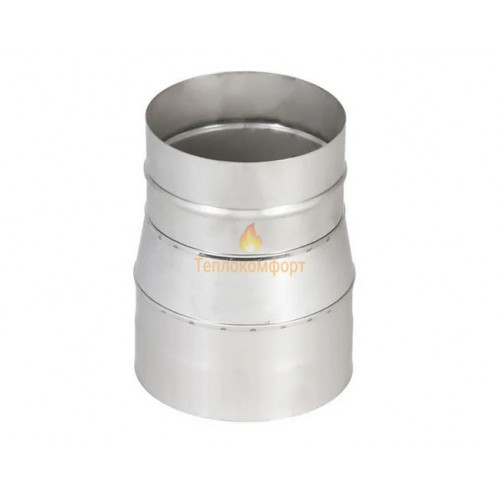 Отопление - Переходник дымоходный Premium Mono AISI 321 0,8 мм, ᴓ 130 Тепло-Люкс - Фото 1