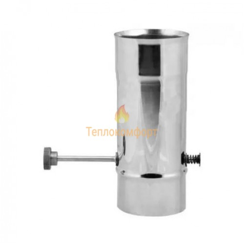 Опалення - Кагла димохідна Eco Mono AISI 201 0,8 мм, ᴓ 250 Тепло-Люкс - Фото 1