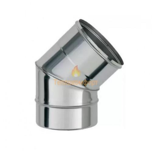 Опалення - Коліно димохідне Standart Mono AISI 304 45°, 0,8 мм, ᴓ 120 Тепло-Люкс - Фото 1