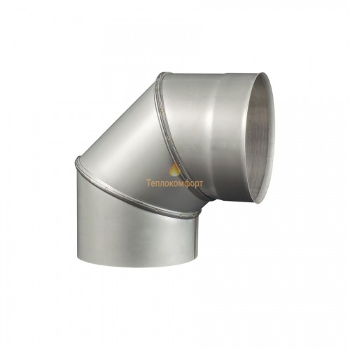 Опалення - Коліно димохідне Standart Mono AISI 304 90°, 0,8 мм, ᴓ 160 Тепло-Люкс - Фото 1