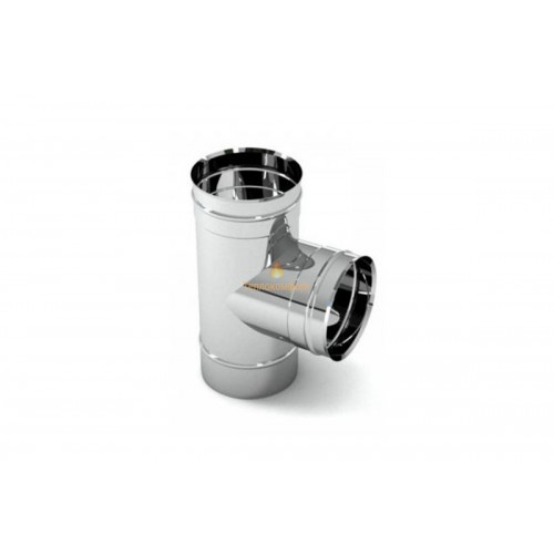 Отопление - Тройник дымоходный Standart Mono AISI 304 87°, 0,8 мм, ᴓ 140 Тепло-Люкс - Фото 1