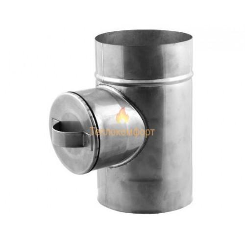 Отопление - Ревизия опорная дымоходная Premium Mono AISI 321 1 мм, ᴓ 350 Тепло-Люкс - Фото 1