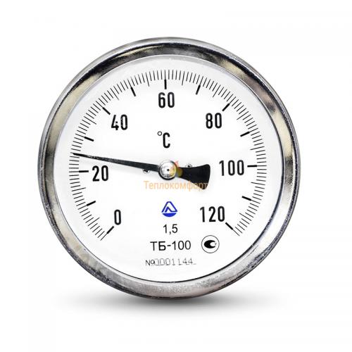 Электромеханика - Термометр биметаллический ТБ-63-160 0-120-2,5-О - Фото 1