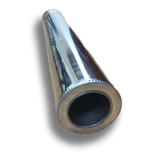 Отопление - Труба дымоходная Premium Termo AISI 321 1 м, нержавейка/оцинковка, 0,8 мм, ᴓ 300/360 Тепло-Люкс - Фото 1