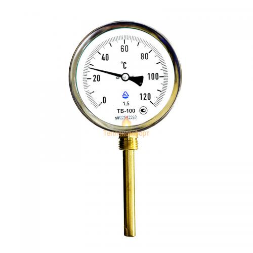 Электромеханика - Термометр биметаллический ТБ-100-50 0-120-1,5-Р - Фото 1