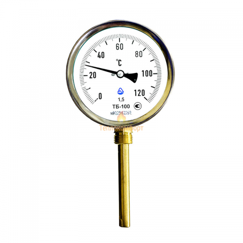 Электромеханика - Термометр биметаллический ТБ-100-160 0-150-1,5-Р - Фото 1