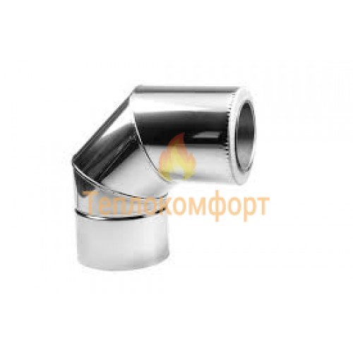 Опалення - Коліно димохідне Standart Termo AISI 304 90°, нержавійка/нержавійка, 0,5 мм, ᴓ 140/200 Тепло-Люкс - Фото 1