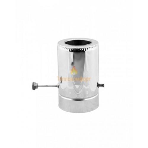 Отопление - Кагла дымоходная Standart Termo AISI 304 0,5 мм, нерж/нерж, ᴓ 110/180 Тепло-Люкс - Фото 1