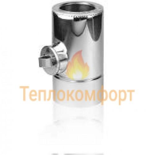Отопление - Ревизия дымоходная Eco Termo AISI 201 1 мм, нерж/оц, ᴓ 130/200 Тепло-Люкс - Фото 1