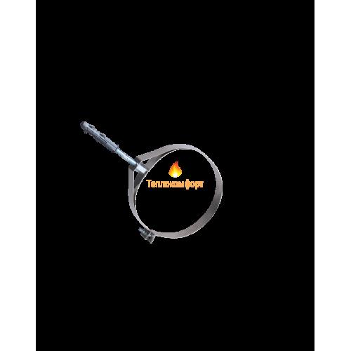 Отопление - Хомут дымоходный для крепления под розтяжку 1 мм, нерж, ᴓ 400/460 Тепло-Люкс - Фото 1