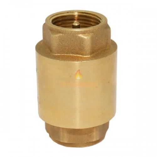 Фитинги - Клапан обратный муфтовый Ду 50 ВВ (латунь, латунный шток) - Фото 1